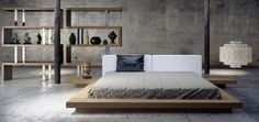 Bedroom by Modloft.  Available at Hold It Contemporary Home in San Diego