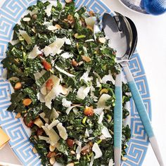 Kale Salad with Dates, Parmesan and Almonds- Stavra's salad