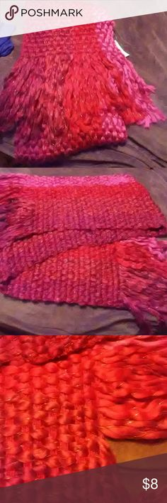Beautiful scarf Shades of red.  Super soft. NWT Accessories Scarves & Wraps