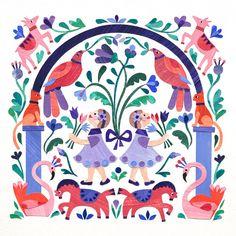 Violet's first birthday by Alice Lindstrom Minimalist Kids, Animal Decor, Collage Art, Collages, Illustration Art, Illustrations, First Birthdays, Art For Kids, Folk Art