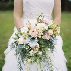 #Bouquet | DIY Wedding and some great wedding planning advice on Style Me Pretty today: http://www.StyleMePretty.com/2014/02/28/diy-wedding-at-chetzemoka-park/ Alexandra Knight Photography