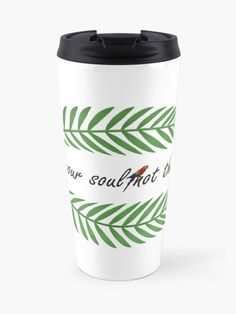 """Tropical green leaf "" Travel Mug by Big Leaves, Green Leaves, Travel Mug, Tropical, Mugs, Tumblers, Mug, Cups"