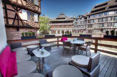 Restaurant Le Pont Tournant - Terrasse vue sur l'Ill