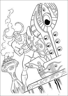 Coloriage Dessins. Dessins à imprimer et la couleur en ligne. Thor 1