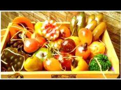 Sabonetes em formato de frutas