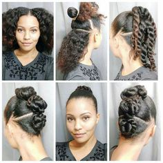 It's finally Friday! 🙌 I have another hairstyle to share with ya! It's super easy! I started on stretched hair. (I know it looks like I Natural Hair Updo, Natural Hair Journey, Natural Hair Care, Natural Hair Styles, Teen Hairstyles, Black Hairstyles, Simple Hairstyles, African Hairstyles, Hairstyle Ideas