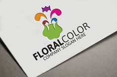 Floral Color Logo by josuf on Creative Market