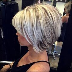 hair bob Latest Most Popular and Hottest Bob Haircuts amp; Hairstyles Inspirations for For getting a fresh new look, here are the hottest bob hair inspirations. Latest mostpopular bob hairstyles for you to try.Bob hairstyles really l. Bob Style Haircuts, Inverted Bob Hairstyles, Bob Hairstyles For Fine Hair, Hairstyles Haircuts, 2018 Haircuts, Modern Haircuts, Stacked Haircuts, Popular Short Hairstyles, Short Layered Haircuts