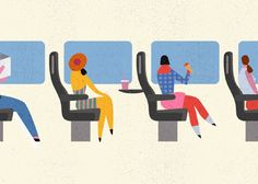 Travel Happy | Illustrations for an animated ad promoting Union Pearson Express, the new rail link service connecting Toronto Pearson International airport and Union Station in downtown Toronto | Lotta Nieminen