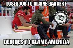 Kaepernick blames america