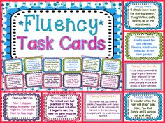Building fluency using task cards! {Free resources and paid products included in blog post}