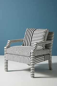 Slide View: 2: Banded Stripe Delaney Chair