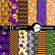 Halloween Night Papers 153 by AMBillustrations on Creative Market