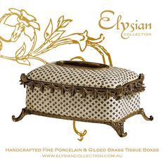 Create a little charm with our Marie Adelaide of Savoy Dot pattern Crackle Finish Porcelain & Brass Tissue Box  https://elysiancollection.com.au/products/marie-adelaide-of-savoy-tissue-box  #elysiancollectiontissuebox #luxurybathroomaccessories