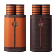 YFOS tall cabinets with two different leather inlay options