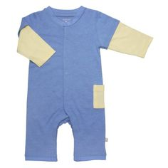 Babysoy Layered One Piece Baby  Lake Blue1218 Months ** For more information, visit image link.