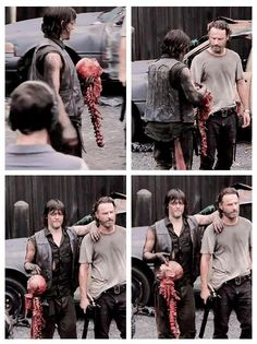 Norman and Andy with the walker head
