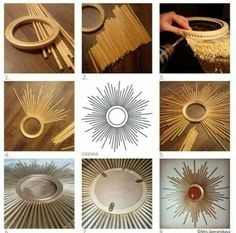Diy Wall Decor Decor Crafts Diy Home Decor Sunburst Mirror Diy Mirror Ramen Diy Deco Rangement Recycled Crafts Diy For KidsDIY drinking straw sunburst frame More Mais 18 Modern Mirror Ideas >> For More Modern Mirror Decor Ideas projects - Diy Project