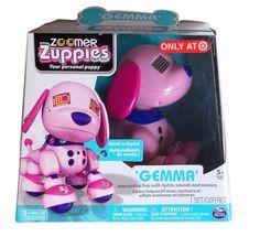 Exclusive Zoomer Zuppies Interactive Puppy Gemma pink robot dog with gems! *Kaylin*