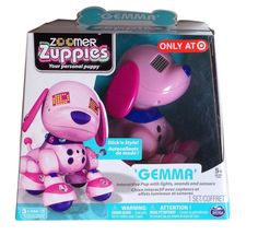 Exclusive Zoomer Zuppies Interactive Puppy Gemma pink robot dog with gems! *Kaylin*