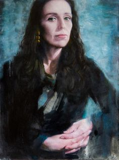 Jacinda Ardern. This portrait for TIME magazine, Person of the Year issue. oil on canvas