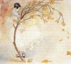 Maria Pawlikowska-Jasnorzewska -Kobieta w białej sukni pod magnolią