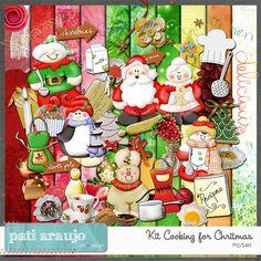 Kit Cozinhando para o Natal (PU/S4H) by Pati Araujo