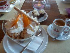 Ice cream parfait in Switzerland