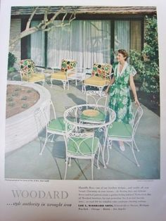 vintage patio furniture ad - Bing Images