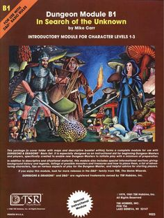 """In Search of the Unknown (Basic) - Module """"In Search of the Unknown,"""" forms a complete adventure for use with Dungeons & Dragons Basic Se Dungeons And Dragons Modules, Advanced Dungeons And Dragons, Pen And Paper Games, Forgotten Realms, Fantasy Rpg, Fantasy Artwork, Wizards Of The Coast, Game Design, Book Art"""