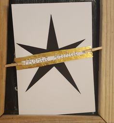 Tähti joulukortti