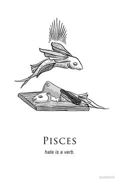 'Pisces - Shitty Horoscopes Book II: Anger' by musterni Astrology Pisces, Zodiac Signs Pisces, Pisces Quotes, Pisces Facts, Zodiac Art, Zodiac Horoscope, Scorpio, Aquarius And Cancer, Pisces Love