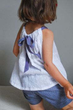 Blouse d'été pour petite fille, facile à faire ! ♥ #epinglercpartager