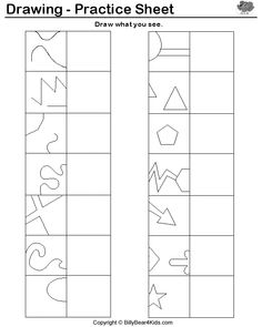 drawing practice sheet. Could vary it for different grade levels. Great entry task idea!