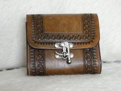 Custom Hand Tooled Leather Belt Bag / Squared Belt Bag / Leather Hip Bag on Etsy, $75.00