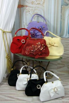 """How inspired are these """"Lady Purses"""" by Matisse Fashions?  Lovely accessory for the Fashion Doll world."""