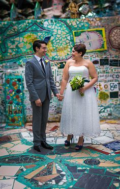 Lindsay & Michael's Whimsical Philadelphia Magic Gardens Wedding|Photographer: McMasters Photography