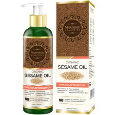 Morpheme Remedies Organic Sesame Oil (Pure ColdPressed Oil) For Hair, Body, Skin Care, Massage. Cold Pressed Pure & Natural Oil. 100 % Pure Sesame seed oilis pressed from best quality Sesame seeds. Warming and enriching properties make it ideal for massage therapy and aromatherapy.