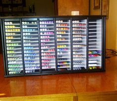 My copic marker rack that my wonderful hubby built for me.