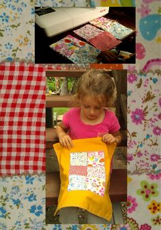 17d5437e59e Some craft squares, a significant rain event and my AEG sewing machine, do a  lovely afternoon & dolls blanket make.