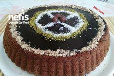 Pudingli Çikolata Soslu Tart Kek