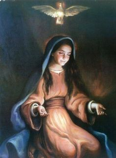 """""""Behold the handmaid of the Lord """"    Our Blessed Mother."""