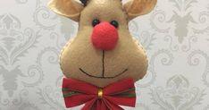 Eu posso com uma Rena fofa dessa??? Créditos nas imagens... Rena, Stuffed Toys Patterns, Sewing Projects, Teddy Bear, Christmas Ornaments, Holiday Decor, Crafts, Keychain Ideas, Creative Crafts
