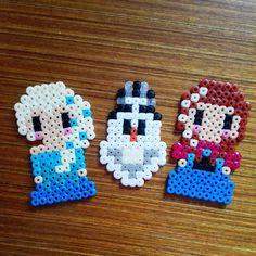 Frozen characters hama beads  by latanadelconiglio