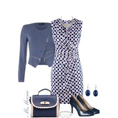 Blue wrap dress * Interview outfit, created by msmeena on Polyvore