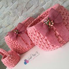 Diy Crochet Basket, Free Crochet Bag, Crochet Bowl, Crochet Basket Pattern, Crochet Art, Hand Crochet, Crochet Patterns, Crochet Storage, Crochet Home Decor