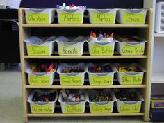 Keen On Kindergarten: Organizing My Math Supplies