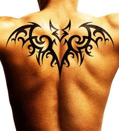 Here are some cool and Stunning bat tattoo designs to make you feel deadly like Batman. These all bat tattoos design are Awesome Tribal Back Tattoos, Upper Back Tattoos, Back Tattoos For Guys, Wolf Tattoos, Sexy Tattoos, Body Art Tattoos, Sleeve Tattoos, Bat Tattoos, Men Henna Tattoo