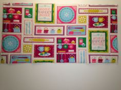 Would be so cute as a newlywed gift! Quilted Wall Hanging  Happy Home Sweet Home by modernarras on Etsy, $90.05