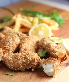 Crispy Oven Baked Fish and Chips! - Taste just like your favorite restaurant Fish and Chips...without all the grease!